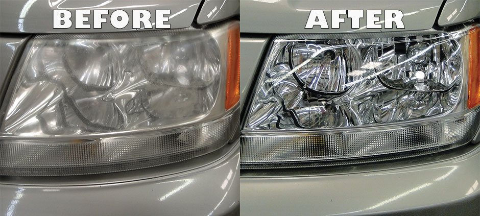 Headlight restoration can return headlights to like-new condition